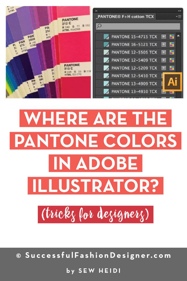 Where Are the Pantone Colors in Adobe Illustrator