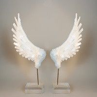 Selenite Crystal Angel Wing Pedestal