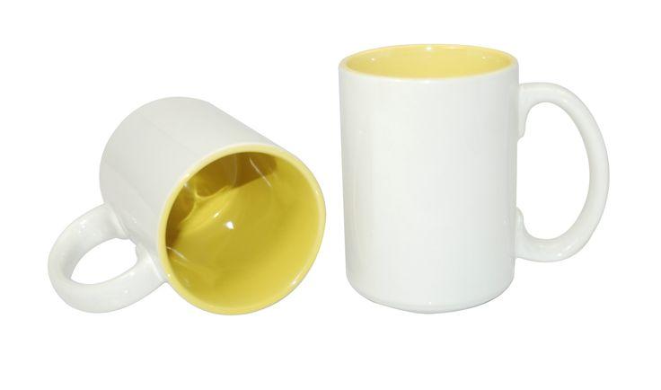 15oz Two-Tone Mug -Yellow