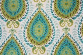 Ikat Pattern Fabric :: Shiraz Printed Linen Blend Drapery Fabric in Mediterranean $18.95 per yard - Fabric Guru.com: Fabric, Discount Fabric, Upholstery Fabric, Drapery Fabric, Fabric Remnants, wholesale fabric, fabrics, fabricguru, fabricguru.com, Waverly, P. Kaufmann, Schumacher, Robert Allen, Bloomcraft, Laura Ashley, Kravet, Greeff