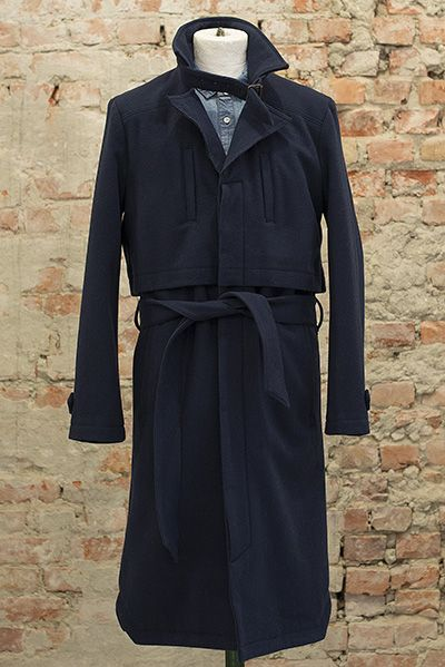 I. Kant Trench designed by Moire 90% Recyled Wool 10% Cashmere