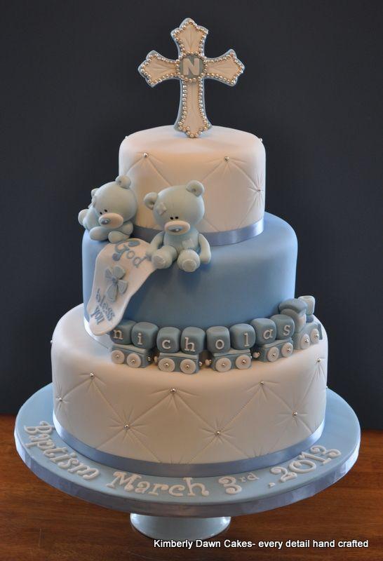 Baptism Cake - Chocolate cake with mocha buttercream.