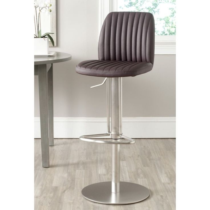 Safavieh Lamont Brown Leather Adjustable 22-32-inch Swivel Modern Bar Stool (FOX3010A  sc 1 st  Pinterest & Best 25+ 32 inch bar stools ideas on Pinterest | Wood bar stools ... islam-shia.org