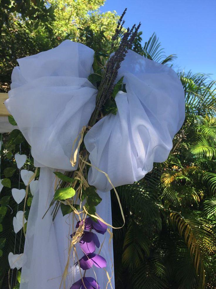 Decoration for a Wooden Ladder Wedding Arch. Garden Wedding.