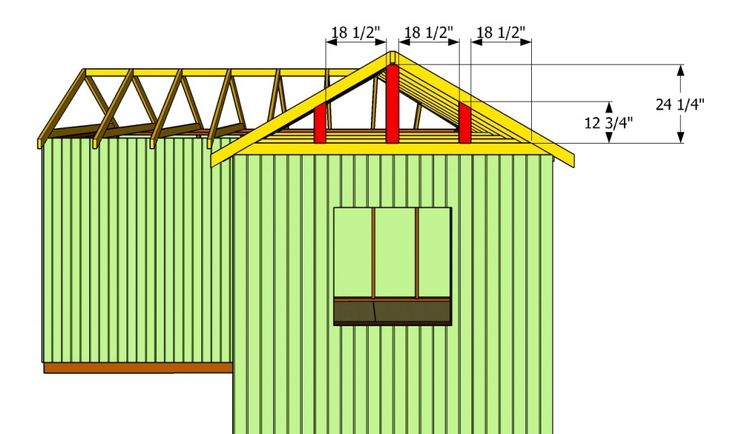 How to build an l-shaped roof | Diy shed plans, Shed plans ...