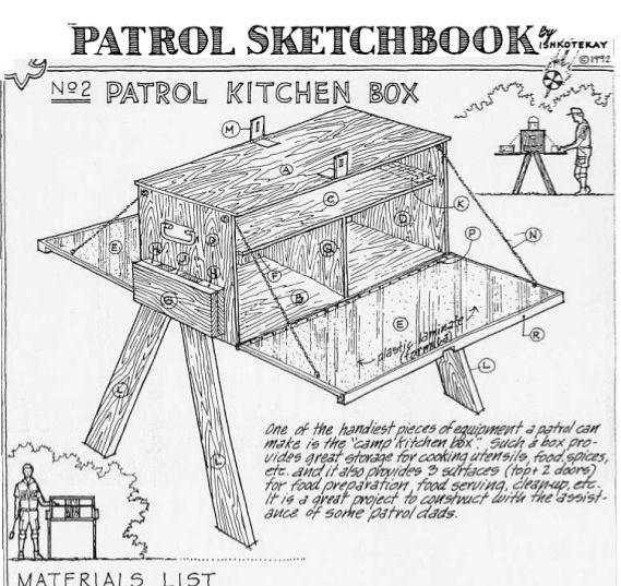 Boy Scout Camp Box Plans   DIY Woodworking
