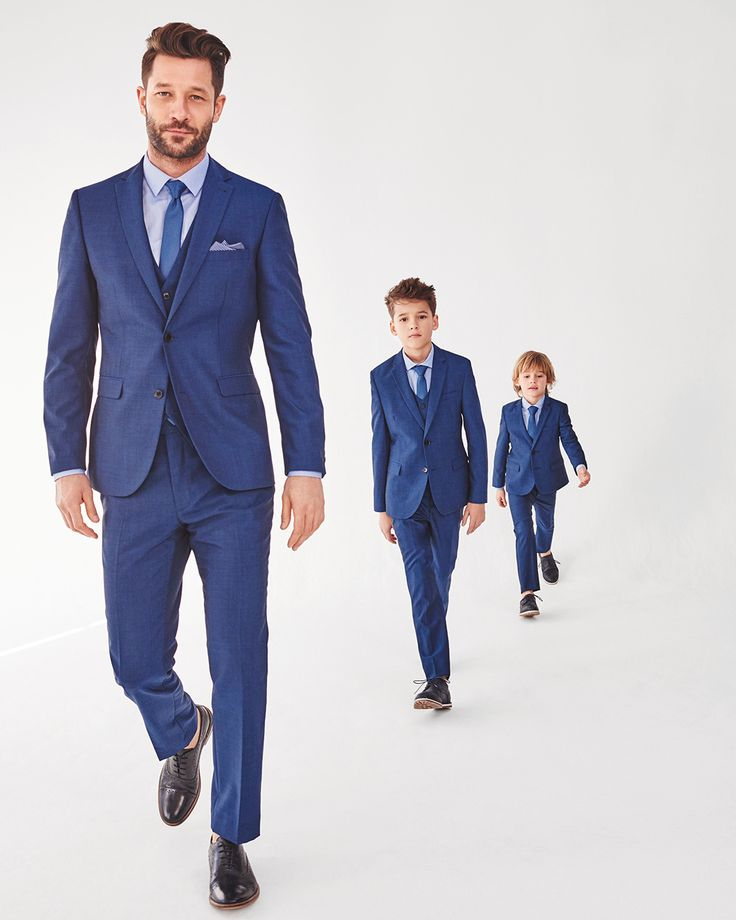 Father and son won't only act the part but look the part too in our premium occasion suits. Shop these identical suits, cut from the same fabric, with matching linings and stitching by tapping the image!