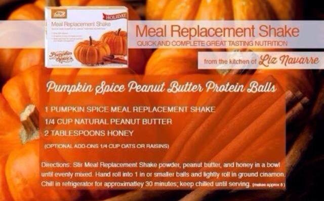 Pumpkin Spice MRS protein balls Advocare