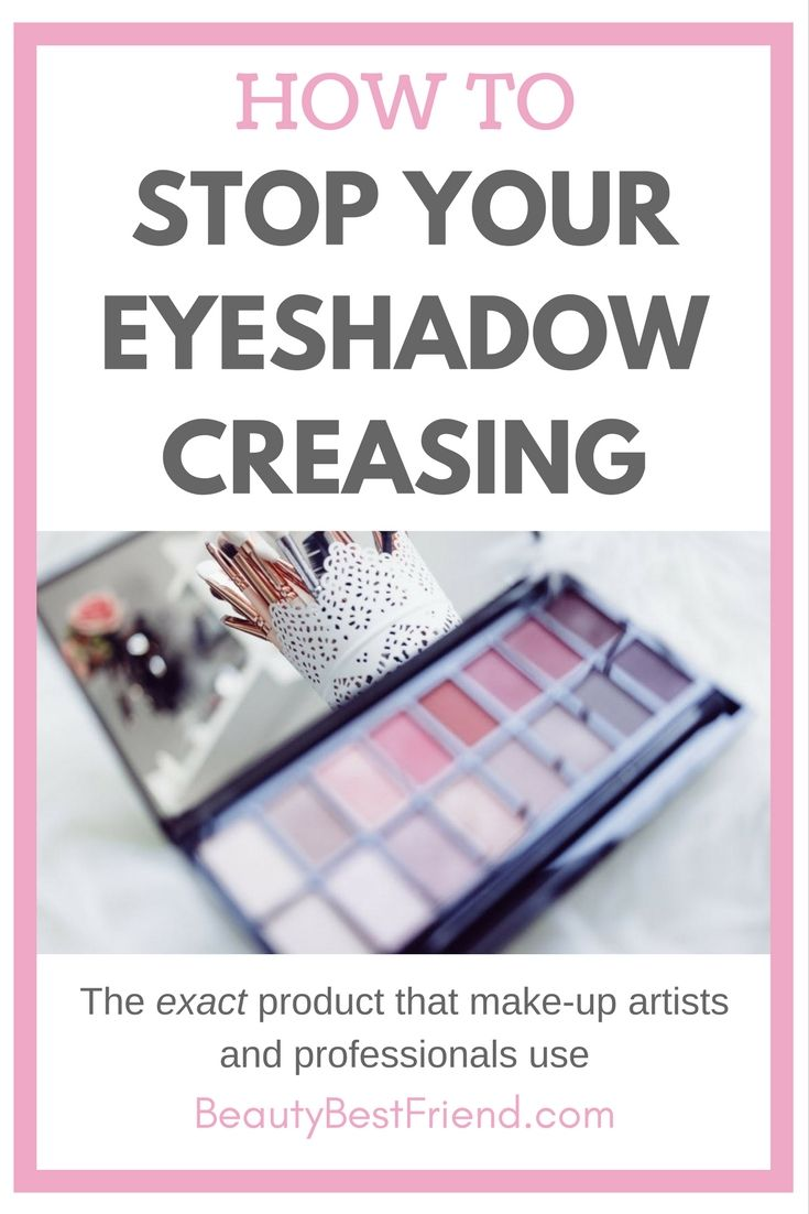 Have a problem with your eyeshadow creasing? I've found the number 1 product to stop this happening! Come over and read my blog post to find out what I use to help my eyeshadow stay put all day!  Eyeshadow primer | eyeshadow creasing | eyeshadow crease | prevent eyeshadow creasing | Urban Decay Eyeshadow Primer Potion