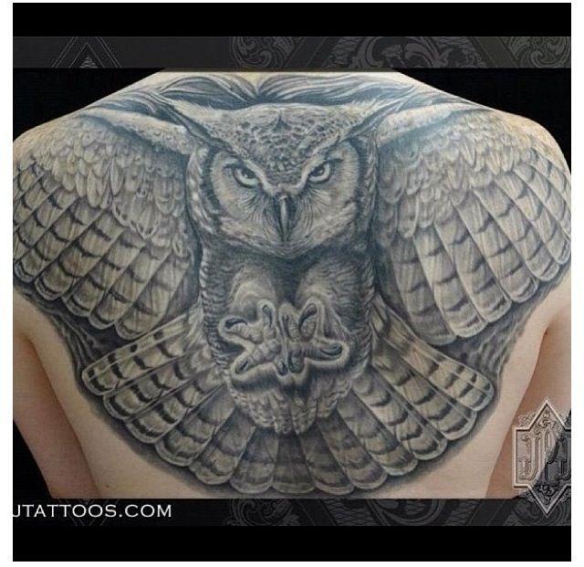 Spread Wing Owl Tattoo | Tattoo | Pinterest | Owl tattoos ...