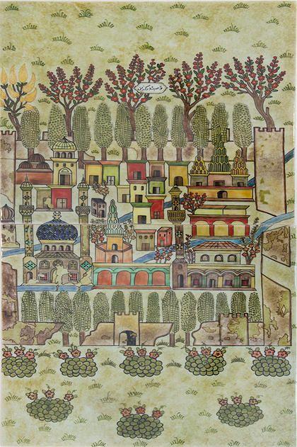 Matrakçı Nasuh-Beyan-i Menazil-i Sefer-i Irakeyn-i Sultan Suleyman-Kasaba-i Dergüzin written circa 1537. (Istanbul University Library)