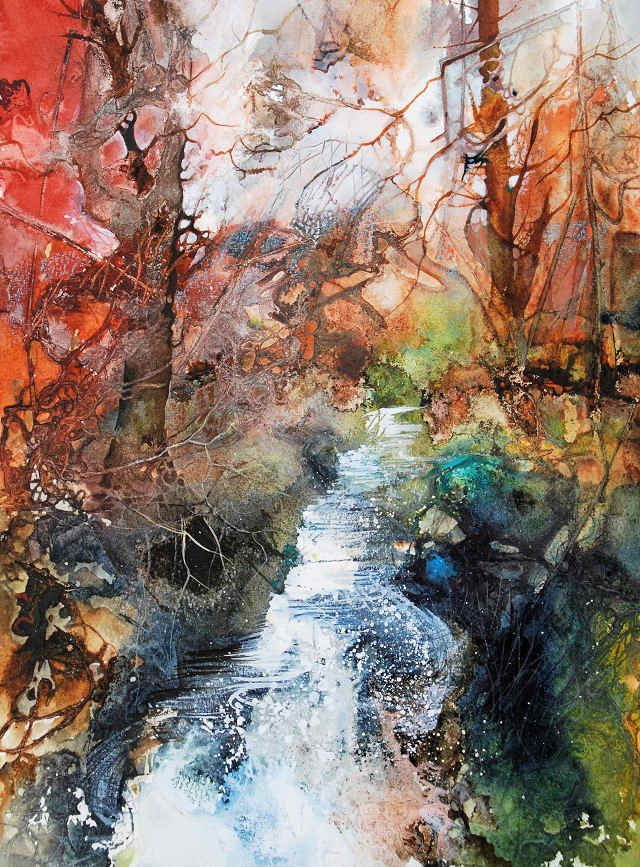 Woodland Stream Ann Blockley