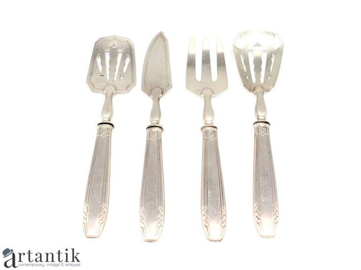 Elegant serviciu Art Deco, pentru servirea produselor de patiserie și deserturilor / Elegant Art Deco set for desserts and patiserie products