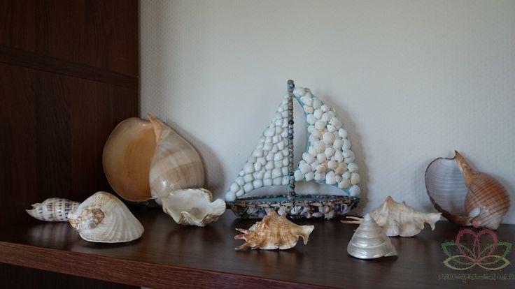 #Schelp, #schelpen #zeilboot knutselen met schelpen Goedkoop-bloemschikken.nl