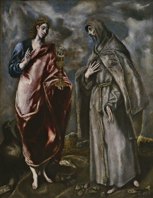 San Juan Evangelista y San Francisco de Asís, después de 1600. (Taller del Greco)