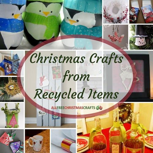 160 best handmade christmas cards images on pinterest for Christmas crafts from recycled materials