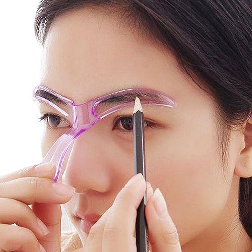 Nieuwe Ontwerp vrouwen Herbruikbare Wenkbrauw Stencils Vormgeven Grooming Eye Brow Make Up Template Willekeurige Kleur