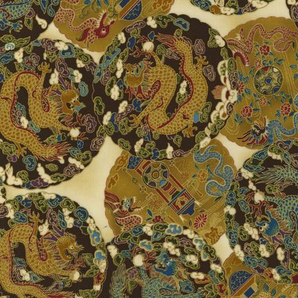 Robert Kaufman - Oriental Traditions 5 ESKM-7166-200 VINTAGE