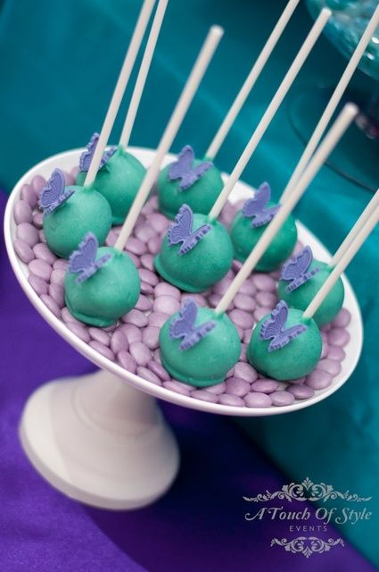 Purple And Teal Birthday Party Ideas 30th Birthday