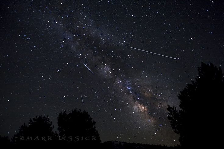 Astrophotographer Mark Lissick sent in a photo of Lyrid meteors and the Milky Way, taken on April 22, 2013, in Hope Valley, CA (near Lake Tahoe). Credit: Mark Lissick/Wildlight Nature Photography
