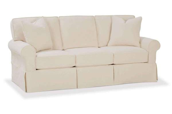 Christine Traditional Slipcovered Sofa With Skirt With Images