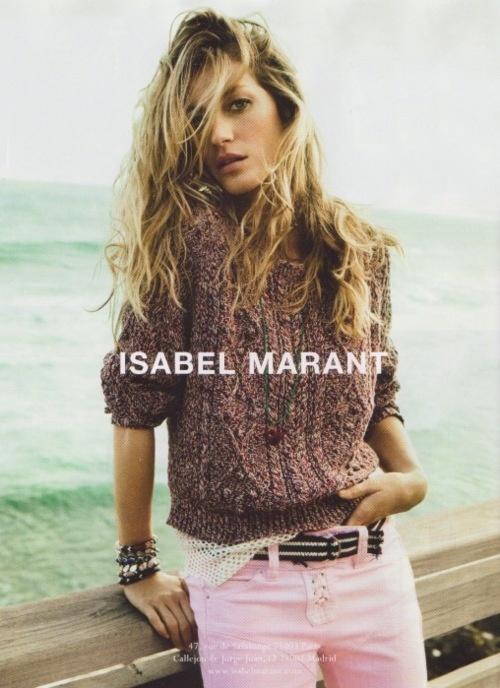 Gisele Bundchan for Isabel Marant