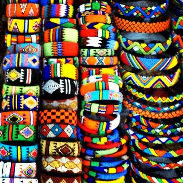 Beaded bracelets - vibrant colors evoke such emotions...