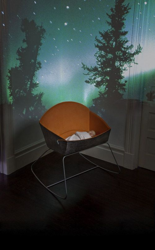 oh ... a bassinet that turns into a rocking chair?  Of course that's cool!!
