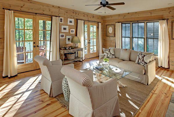 Wood Walls Amp Tan Window Treatments Janeen Lamkin Tokar