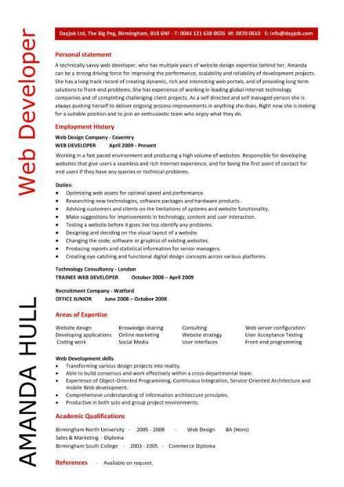 Best 25+ Web developer resume ideas on Pinterest Python cheat - web resume examples