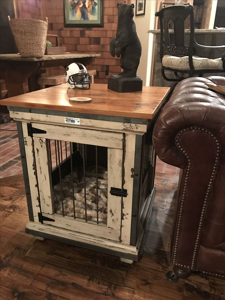 Handcrafted Dog Kennel And Crate Custom Wooden Wire