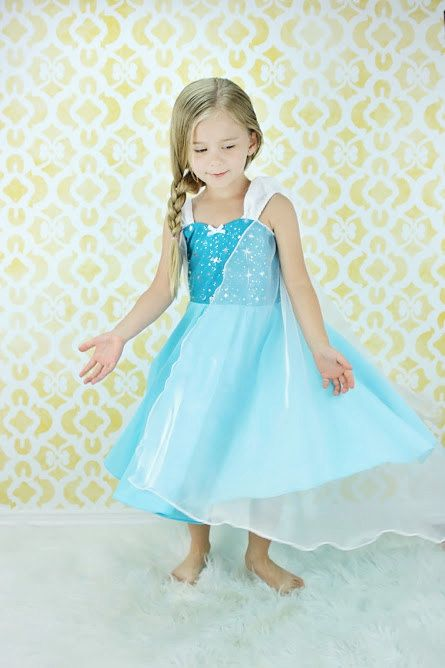 Elsa dress princess dress Frozen birthday by loverdoversclothing