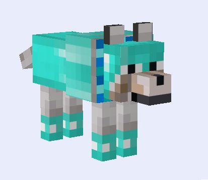 minecraft shiny (diamond) wolf!!!!! This is the best wolf ever!!!!!!!!!!!!!!!!