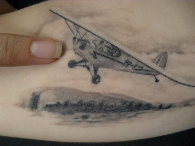 airplane tattoes | airplane tattoo | Flickr - Photo Sharing!