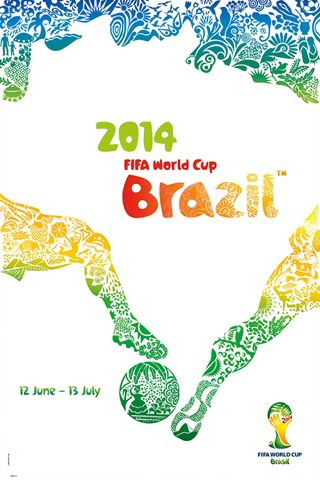 FIFA World Cup 2014 Brazil Official Poster (Worldwide English Edition) ~available at www.sportsposterwarehouse.com