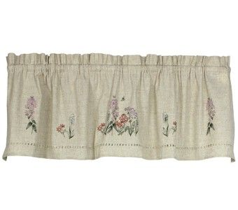 Snapshots Embroidered Phlox Valance Curtain | Curtain & Bath Outlet