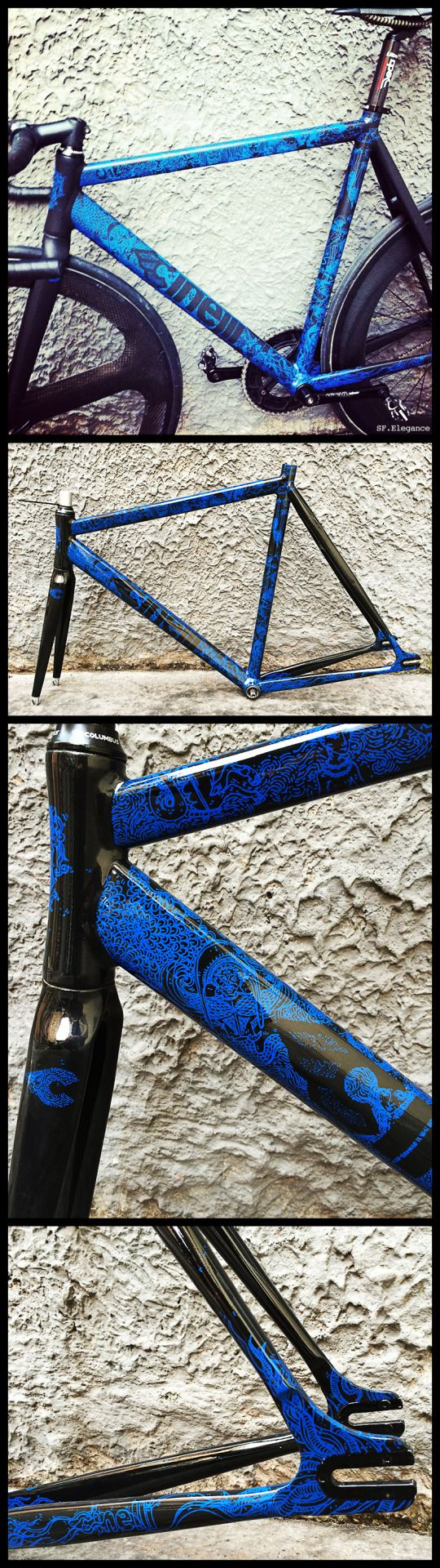"""sf-elegance: """"As promised the details of the CINELLI Mash Histogram…Artwork by the French Lab: NUAN-C… www.nuan-c.com """""""