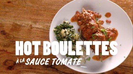 Hot boulettes à la sauce tomate