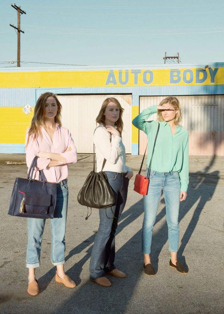 The Gummer sisters shot by Stephen Shore for the Clare Vivier x