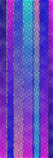 Linda's Fiber Weblog: Transfer of Weaving Drafts to Simulated Painted Warp