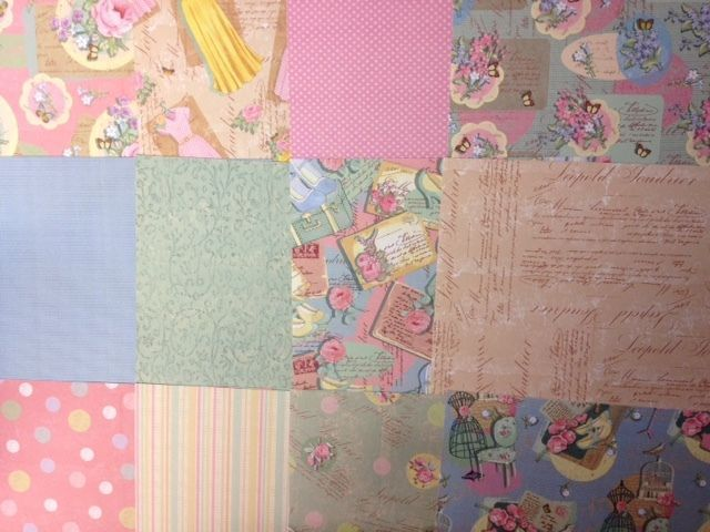 Taster pack 6 x 6 dovecraft couture de jour card making craft paper