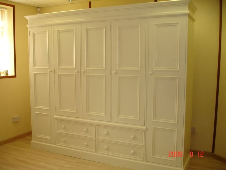 French White Shabby Chic Painted Large 5 door Solid Pine Shabby Chic  Wardrobe in Home, Furniture & DIY, Furniture, Wardrobes