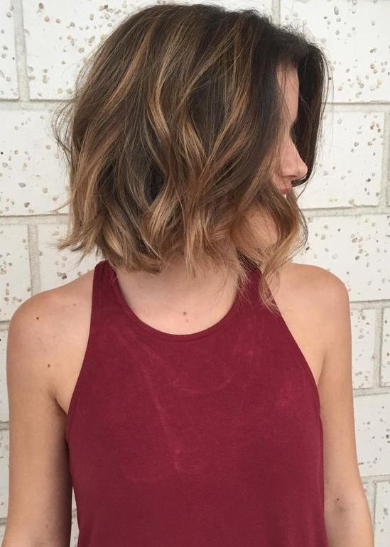 Updated hair color ideas for short hair with brunette and balayage highlights in 2017 2018. Make your hair look more stunning with these best hair color trends.