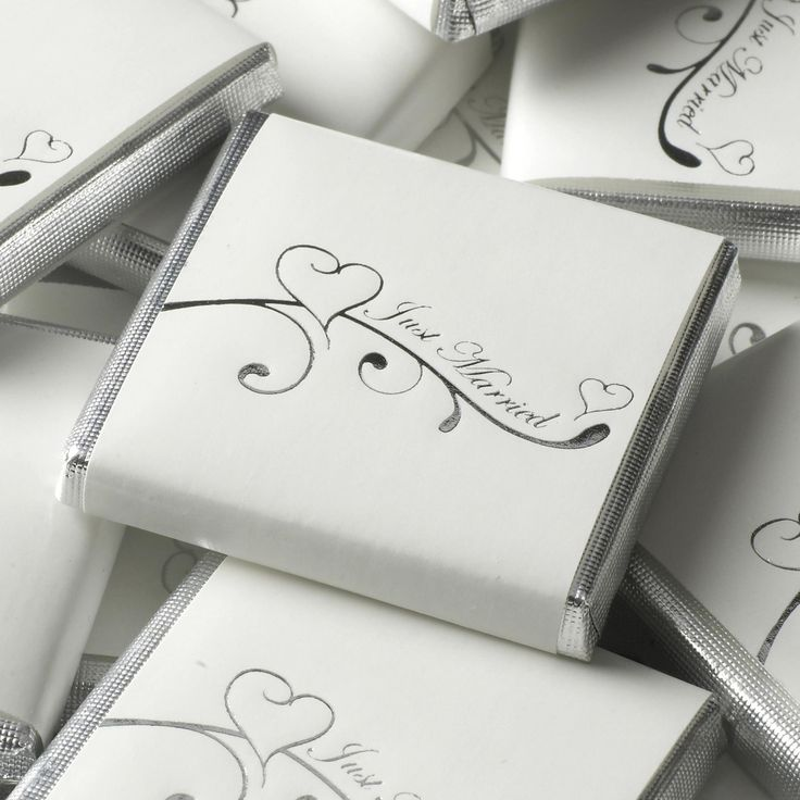 Contemporary Heart - Chocolate Squares- Weddings