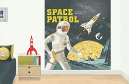 Space Patrol - kid's bedroom mural.