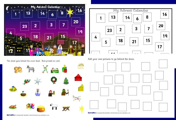 make your own a4 advent calendar 2 sb1868 sparklebox christmas teaching resources. Black Bedroom Furniture Sets. Home Design Ideas