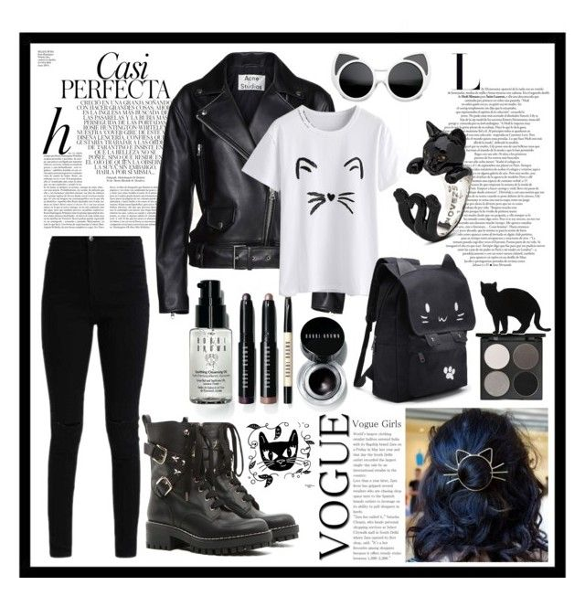 """""""meow 🐱"""" by flie9enpilz on Polyvore featuring RED Valentino, Bobbi Brown Cosmetics, Whiteley, Acne Studios, Gorgeous Cosmetics and 157+173 designers"""