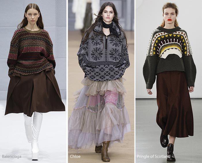 Otoño / Invierno 2016-2017 tendencias de la moda: Apres Ski suéteres de gran tamaño