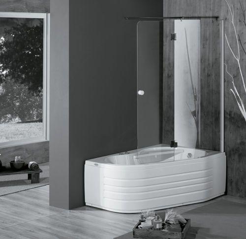 Les 25 meilleures id es de la cat gorie baignoire douche for Baignoire angle encastrable