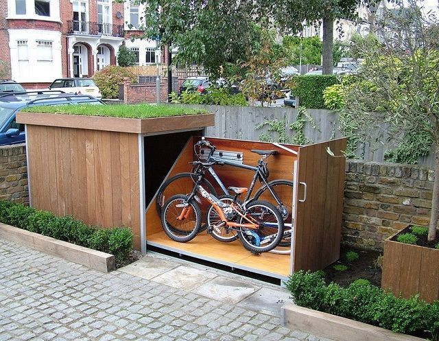 Bike Storage Shack can be Your Hidden Shelter For the Bike!